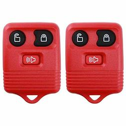 2 KeylessOption Red Replacement 3 Button Keyless Entry Remot