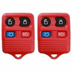 2 KeylessOption Red Replacement 4 Button Keyless Entry Remot