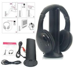 2PCS 5 in 1 Hi-Fi Wireless Headset Headphone+FM Transmitter