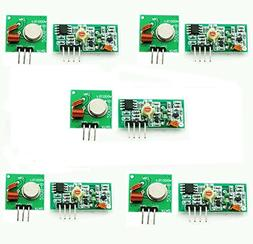 Gowoops 5 Sets of 433Mhz RF Transmitter and Receiver Link Ki