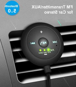 aux in bluetooth wireless receiver adapter fm