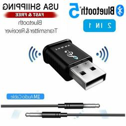 Bluetooth 5.0 Audio Transmitter Receiver USB Adapter For TV/