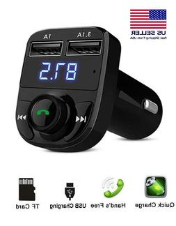 Bluetooth Car FM Transmitter MP3 Player Wireless Radio Adapt