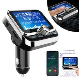 Wireless Car Bluetooth FM Transmitter with USB Charger Hands