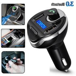 bluetooth car fm transmitter radio adapter mp3