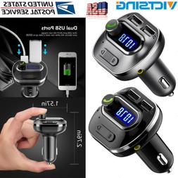 VICTSING Bluetooth Car Kit FM Transmitter Wireless Radio MP3