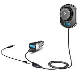 Comsoon Bluetooth Car Receiver, Wireless FM Transmitter Radi