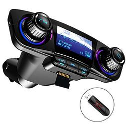 Bluetooth FM Transmitter Car MP3 Player Hands-Free Car Kit W