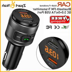 Bluetooth FM Transmitter Car Radio MP3 Player+QC3.0 Dual USB