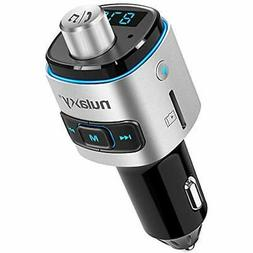 Bluetooth FM Transmitter For Car, Nulaxy QC3.0 Radio Adapter