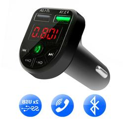 bluetooth fm transmitter wireless adapter mp3 radio