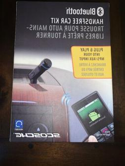 Scosche Bluetooth Handsfree Audio AUX Car Kit Plug and Play