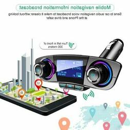 bluetooth handsfree car kit fm transmitter modulator