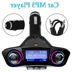 Bluetooth Handsfree Car Kit FM Transmitter Modulator Aux Aud