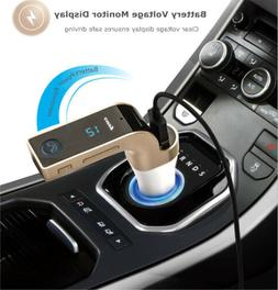 Bluetooth Handsfree Car Kit MP3 FM SD Dual USB Charger for S