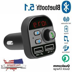 Bluetooth In-Car Wireless Adapter FM Transmitter MP3 Radio C