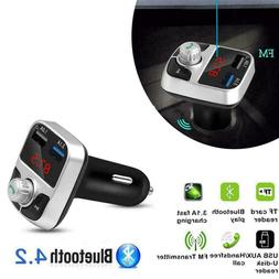 Bluetooth MP3 Player Handsfree Car Kit FM Transmitter Charge
