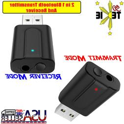 Bluetooth Transmitter & Receiver Wireless 3.5mm Aux Adapter