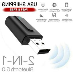 Bluetooth Transmitter Receiver Wireless 3.5mm Aux Adapter US
