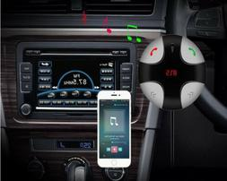 Bluetooth 4.0 Car FM Transmitter Radio Adapter USB Charger F