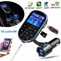 Bluetooth Wireless AUX Stereo Audio Receiver FM Transmitter