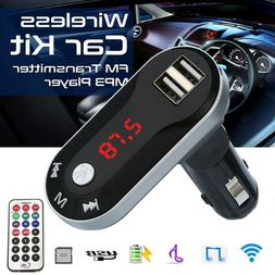 Bluetooth Wireless Car Kits FM Transmitter MP3 Player Handsf