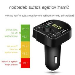 Car Charger Bluetooth USB Socket Power Adapter FM MP3 Player