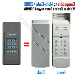 Compatible to Multi-Code 4200 Wireless Keyless Entry Keypad