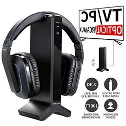 D1 Wireless TV Headphone 2.4GHz Digital Transmitter Charging