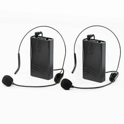Dual Channel Wireless Bodypack Transmitters with Headsets fo
