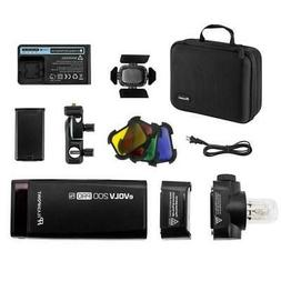 Flashpoint eVOLV 200 Pro TTL Pocket Flash with Barndoor Kit