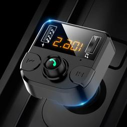 fm transmitter bluetooth car mp3 player hands