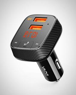 FM Transmitter Bluetooth Receiver Car Charger With 2 USB Por