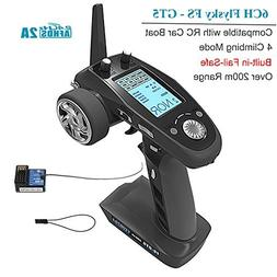 Flysky FS-GT5 6CH RC Transmitter with FS BS6 Receiver , 2.4G