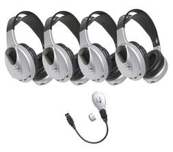 HIR-KT4 4-Person Infrared Stereo/Mono Headphones with Transm