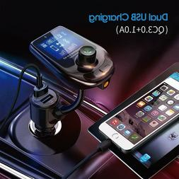 In Car Bluetooth 5.0 FM Transmitter MP3 Radio Player Adapter