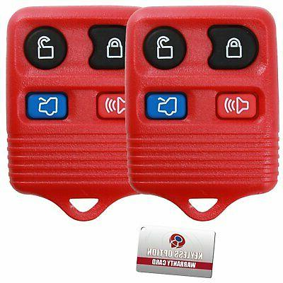 2 Red 4 Remote Control Key