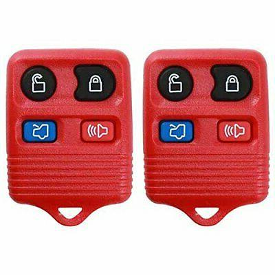 2 red replacement 4 button keyless entry