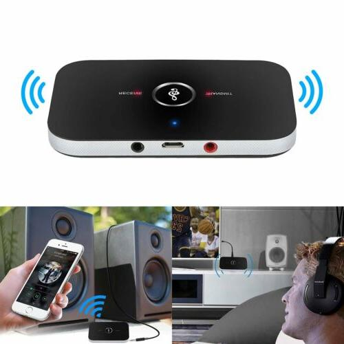2in1 Transmitter Receiver Wireless TV Stereo Audio Adapter