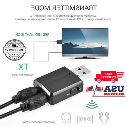 3 in Bluetooth Audio Transmitter/Receiver Adapter TV/PC/Car