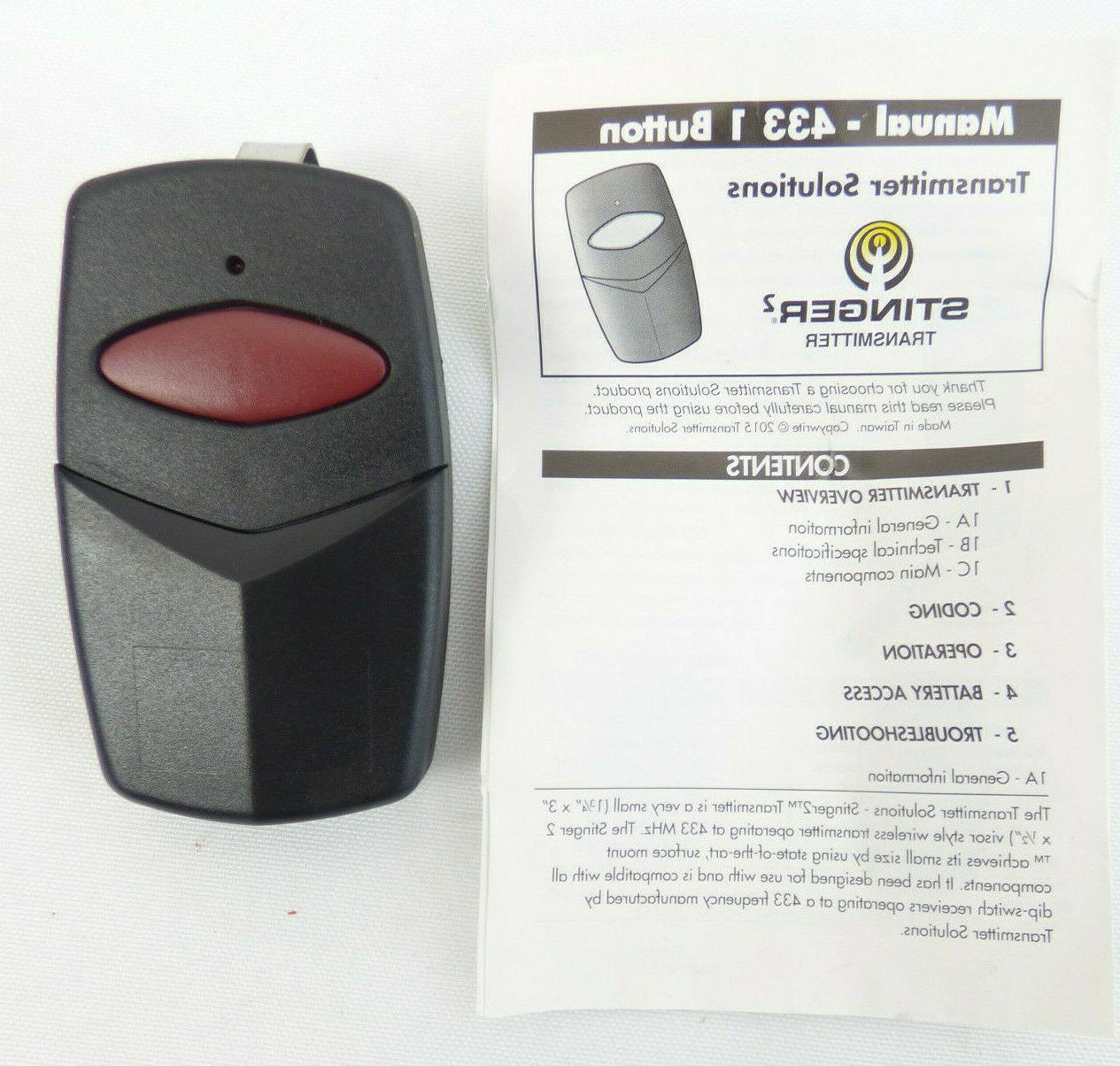 433tsd21v gate garage door opener remote