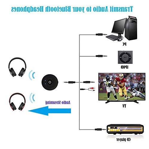 New TV Audio Transmitter Support Pairing Headsets CD Kindle iPod