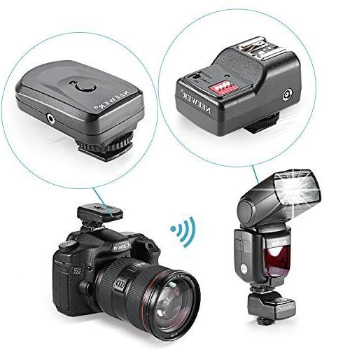 Neewer 16 Flash Set: 1 Transmitter 3 Receivers + Cable Pentax, Other Flash with Universal
