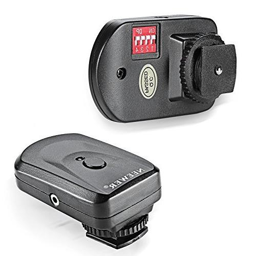 Neewer 16 Channel Wireless Remote Flash Trigger and 2.5mm PC Receiver for Compatible with Canon 580EX II 580EX 550EX 540EZ Nikon SB900 SB800 SB600 SB28 Neewer TT860 TT850 TT560 Olympus Pentax Sigma