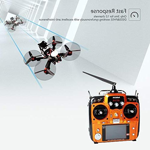 Radiolink AT10II Transmitter and 2.4GHz DSSS&FHSS Radio Remote RC Drone/Fixed Wing/Multicopters/Helicopter