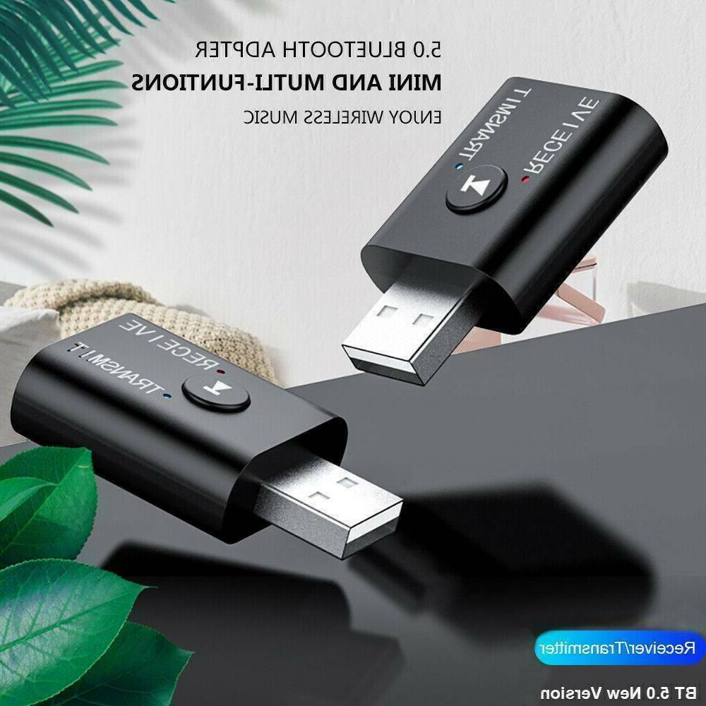 Bluetooth 5.0 Audio USB Transmitter Receiver Adapter AUX PC