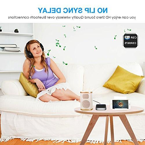 Wsiiroon Bluetooth Receiver, 2-in-1 Low 3.5mm for Home/Car