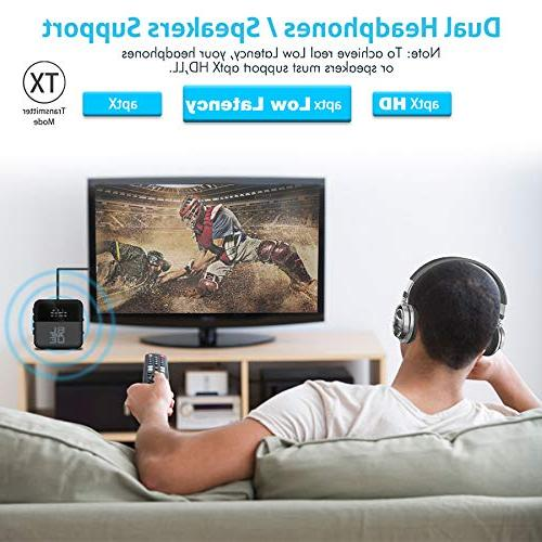 Bluetooth 5.0 HD Audio & Optical Adapter TV Home/Car Stereo System