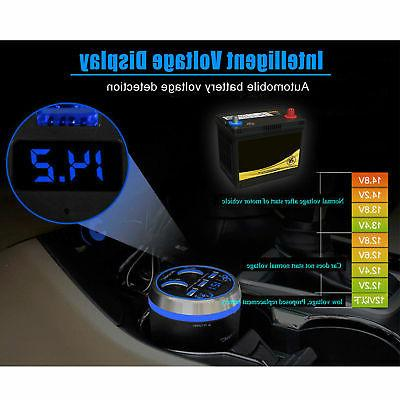 Bluetooth Car Charger LCD Display USB SD FM 80W