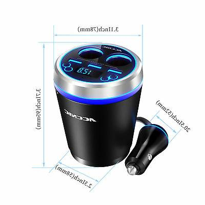 Bluetooth Charger Display USB SD FM Modulator 80W